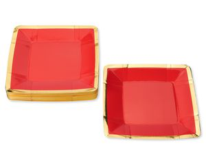 Valentine's Day Red Dinner Plates, 8-Count