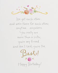 Kathy Davis Memorable Moments Birthday Card for Sister