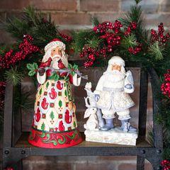 Jim Shore™ White Woodland Santa Claus Figurine