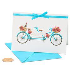 Tandem Bike Wedding Greeting Card