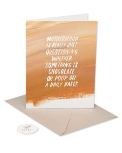 chocolate or poop mother's day card