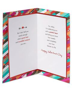 Religious Grateful Heart Valentine's Day Card for Husband
