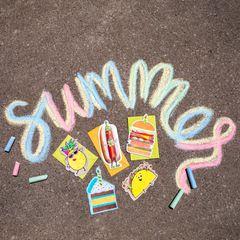 Funny Hot Dog Birthday Card Lifestyle Image