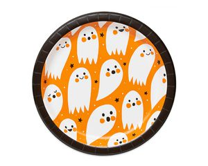 Ghosts and Stars Paper Dinner Plates, 10-Count