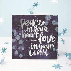 Peace Greeting Card - Christmas, Happy Holidays, Happy New Year, Hanukkah