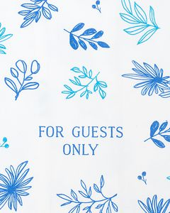 for guests only tea towel