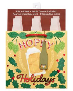 Christmas Hoppy Holidays Beverage Gift Bag