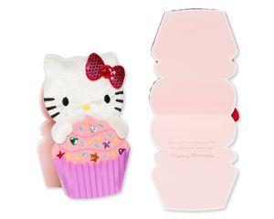 Hello Kitty Birthday Greeting Card Bundle, 4-Count