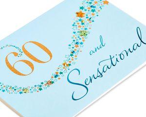 60 And Sensational Birthday Greeting Card