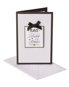 Eat Drink and Be Married Wedding Card
