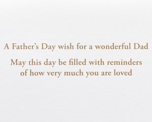 Dad Lasercut Wood Lettering Father's Day Greeting Card
