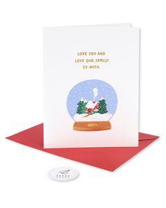 love our family romantic christmas card