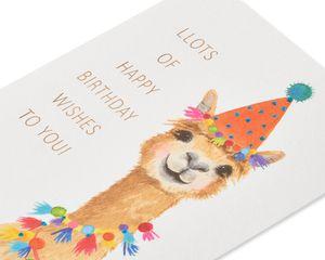 Party Hat Llama Birthday Greeting Card