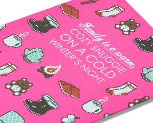 Cozy Snuggle Christmas Card