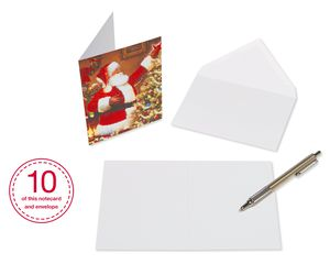 Assorted Christmas Note Cards and Envelopes, 30-Count