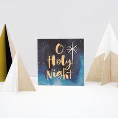 Religious Holy Night Christmas Greeting Card