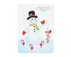 punch your snowman holiday card