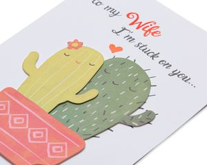 Cacti Valentine's Day Greeting Card