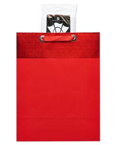 Large Red Graduation Gift Bag with Tissue Paper; 1 Gift Bag and 6 Sheets of Tissue Paper