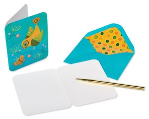 Owls and Birds Boxed Blank Note Cards with Envelopes, 20-Count