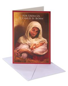 Madonna & Child Christmas Boxed Cards and White Envelopes, 14-Count