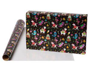 Llama and Dots Holiday Wrapping Paper