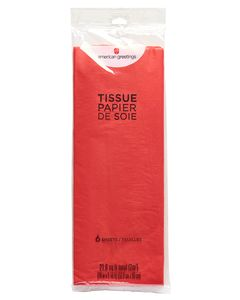 Red Tissue Paper, 6 Sheets