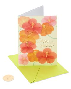 Scattered Flowers Birthday Greeting Card