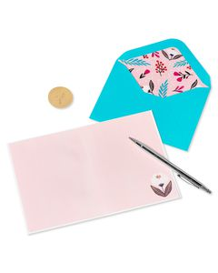 Symmetrical Floral Blank Greeting Card
