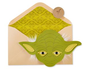 Yoda Head Star Wars Birthday Greeting Card