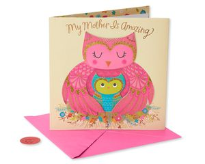 Owls Mother's Day Card
