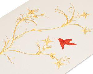 Red Hummingbird Blank Greeting Card