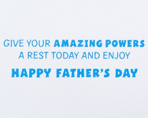 Super Dad Father's Day Greeting Card
