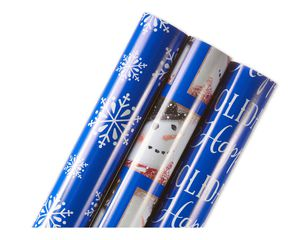 Christmas Wrapping Paper, 3-Roll Pack
