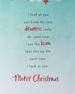 My Everything Christmas Greeting Card for Husband