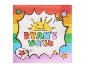 Ryan's World Lunch Napkins, 50-Count