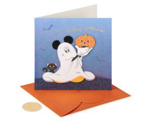 Ghost Mickey Disney Halloween Greeting Card