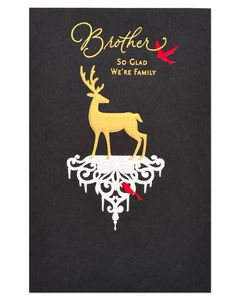 Deer Christmas Card for Brother