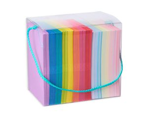 Rainbow Blank SIngle Panel Cards and Colored Envelopes, 200-Count