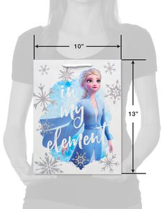 Frozen Silver Glitter Medium Gift Bag