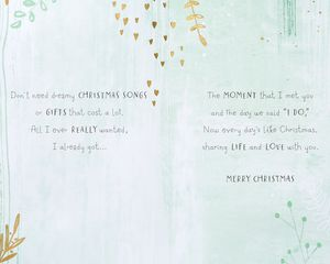 Christmas Trees Christmas Card for Wife