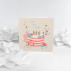 Sweet Strong Beautiful Birthday Card for Mom