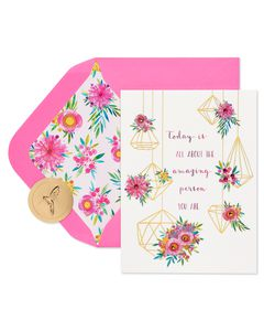 Terrarium Birthday Greeting Card
