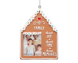 Family Gingerbread Frame Ornament