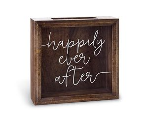 Mud Pie Happily Ever After Wood Keepsake Box