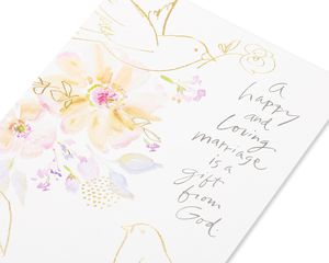 Kathy Davis Doves Wedding Card
