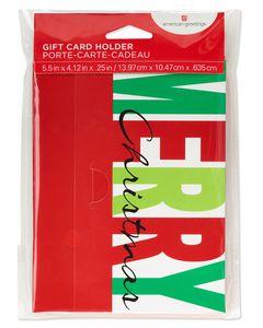 Merry Christmas Gift Card Holder