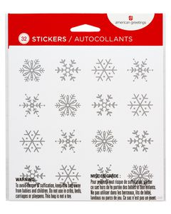 Snowflake Sticker Sheets, 32-Count