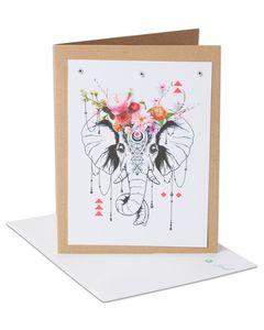 Elephant Blank Card