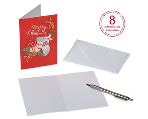 Traditional Christmas Greeting Card Bundle with White Envelopes, 48-Count